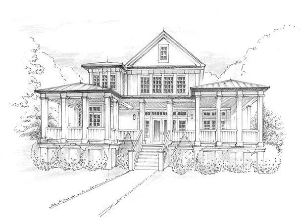 Portfolio tsoup architectural illustration for Architectural drawings for houses